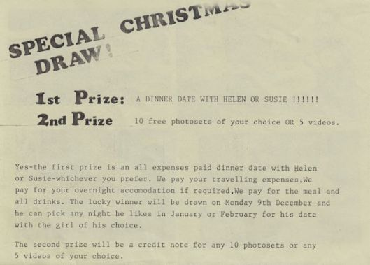 Fiona Cooper Christmas Draw Flyer